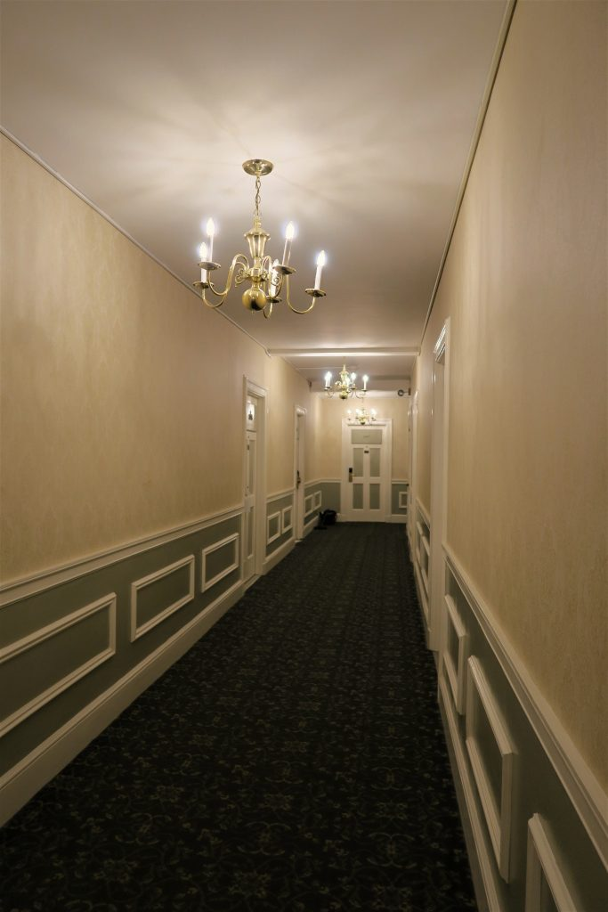Hallway at the Hawthorne Hotel