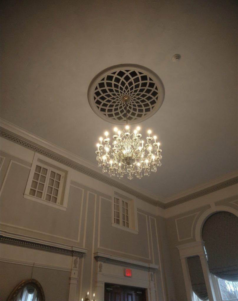 Chandelier in the Hawthorne Hotels' Grand Ballroom
