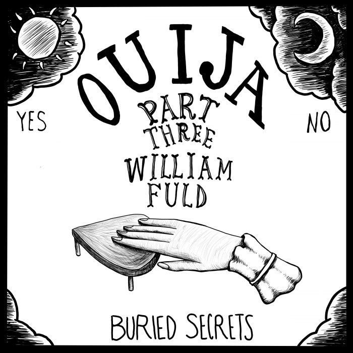 William Fuld - image of a hand on a Ouija board planchette