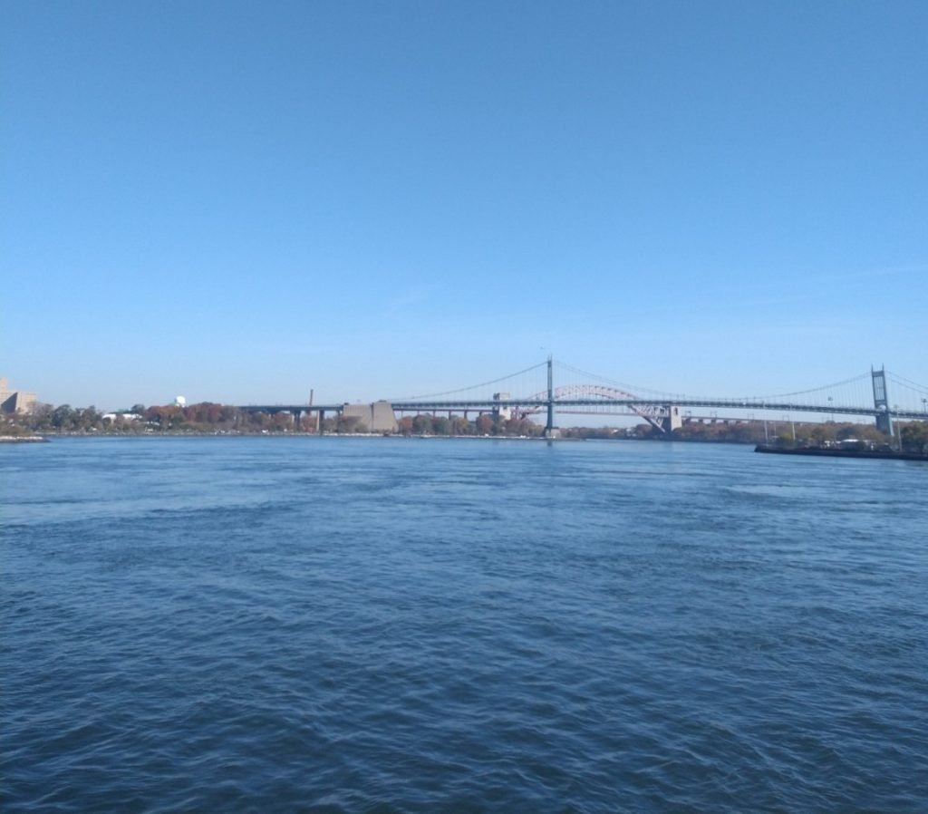 The Hell Gate, with the RFK and Hell Gate Bridge in the distance