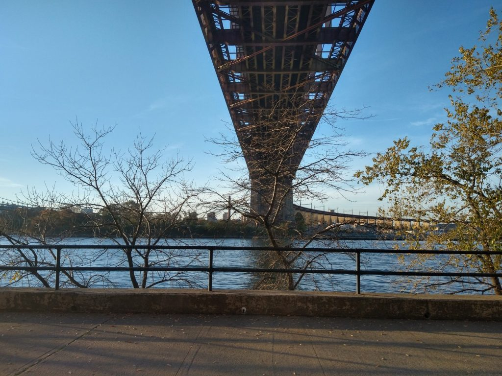 The Hell Gate and Hell Gate Bridge seen from Astoria Park